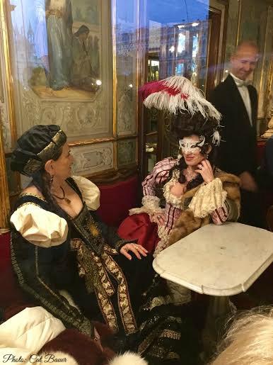 Caffè Florian during Carnival - Photo: Cat Bauer Venetian Cat Venice InsiderBlog