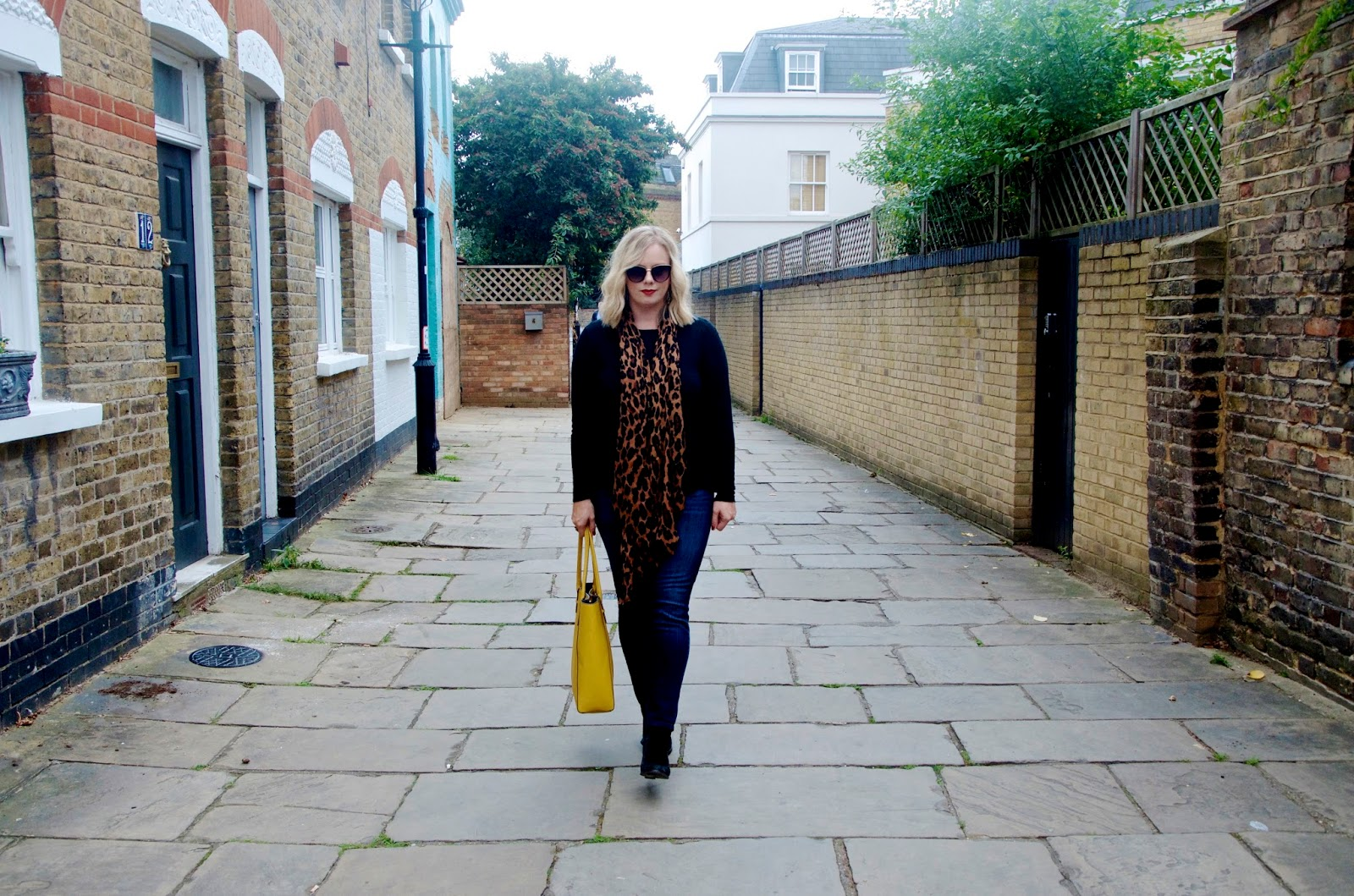 Walking through Putney in London on Quill Lane