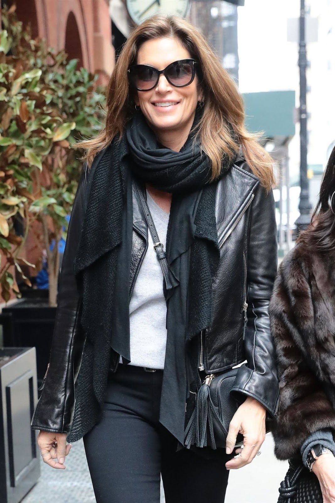 Cindy Crawford and a friend are spotted out for a stroll in New York