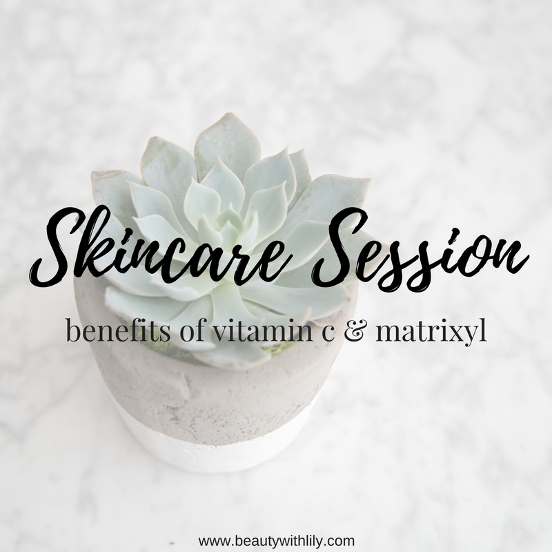 Benefits of Vitamin C, Hyaluronic Acid, & Matrixyl for the Skin | beautywithlily.com