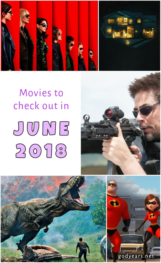 Movies to check out in Hollywood in June 2018 - Jurassic World, Incredibles 2, Oceans 8, Sicario 2, hereditary