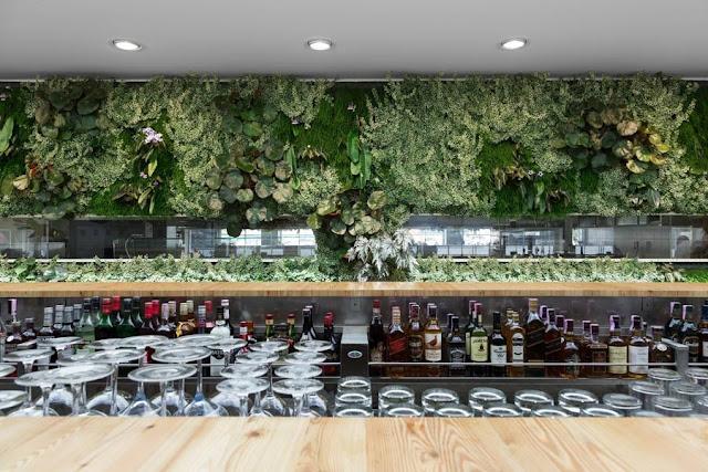 indoor vertical garden restaurant