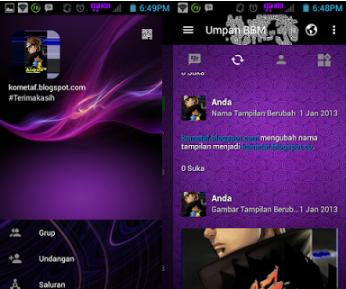 BBM MOD Purple Elegant V3.0.1.25 Apk