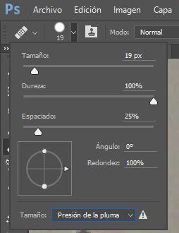 Configurar las propiedades de la Herramienta Pincel Corrector en Photoshop