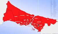 Sultanbeyli ilçesinin nerede olduğunu gösteren harita