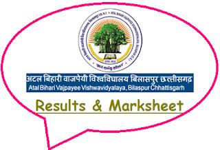 BU Bilaspur Results 2020