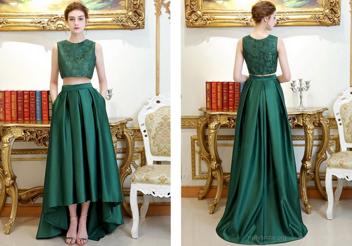 Two Piece Prom Dresses MillyBridal