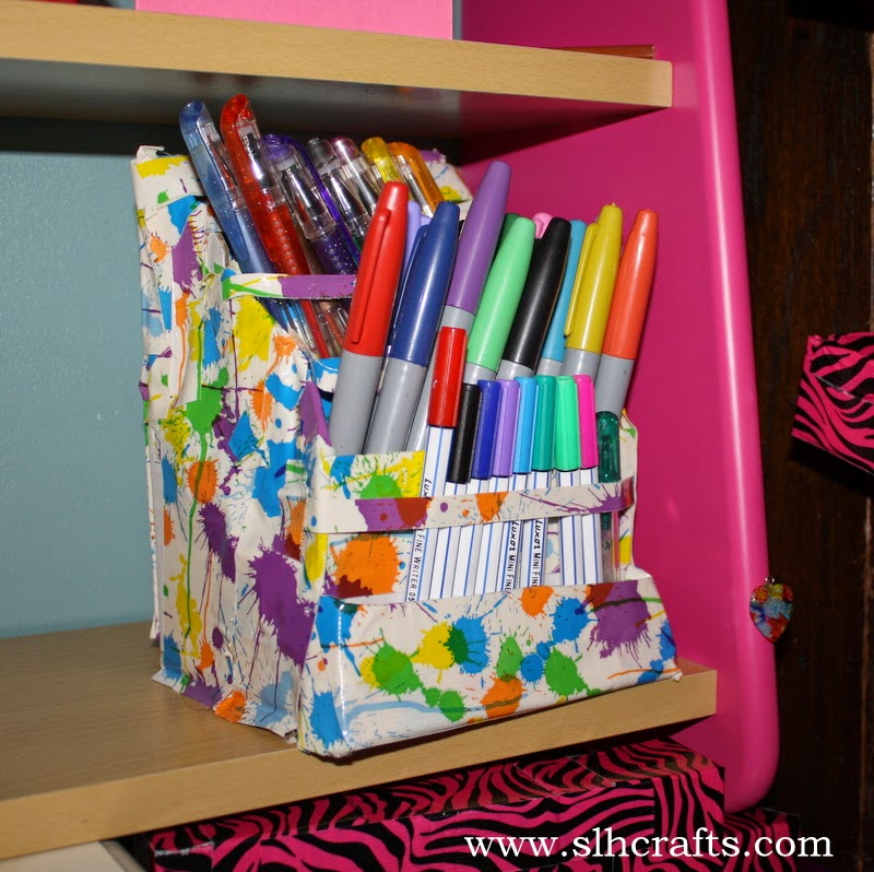 Slh Crafts Handmade Desk Tidy Decorated With Duct Tape