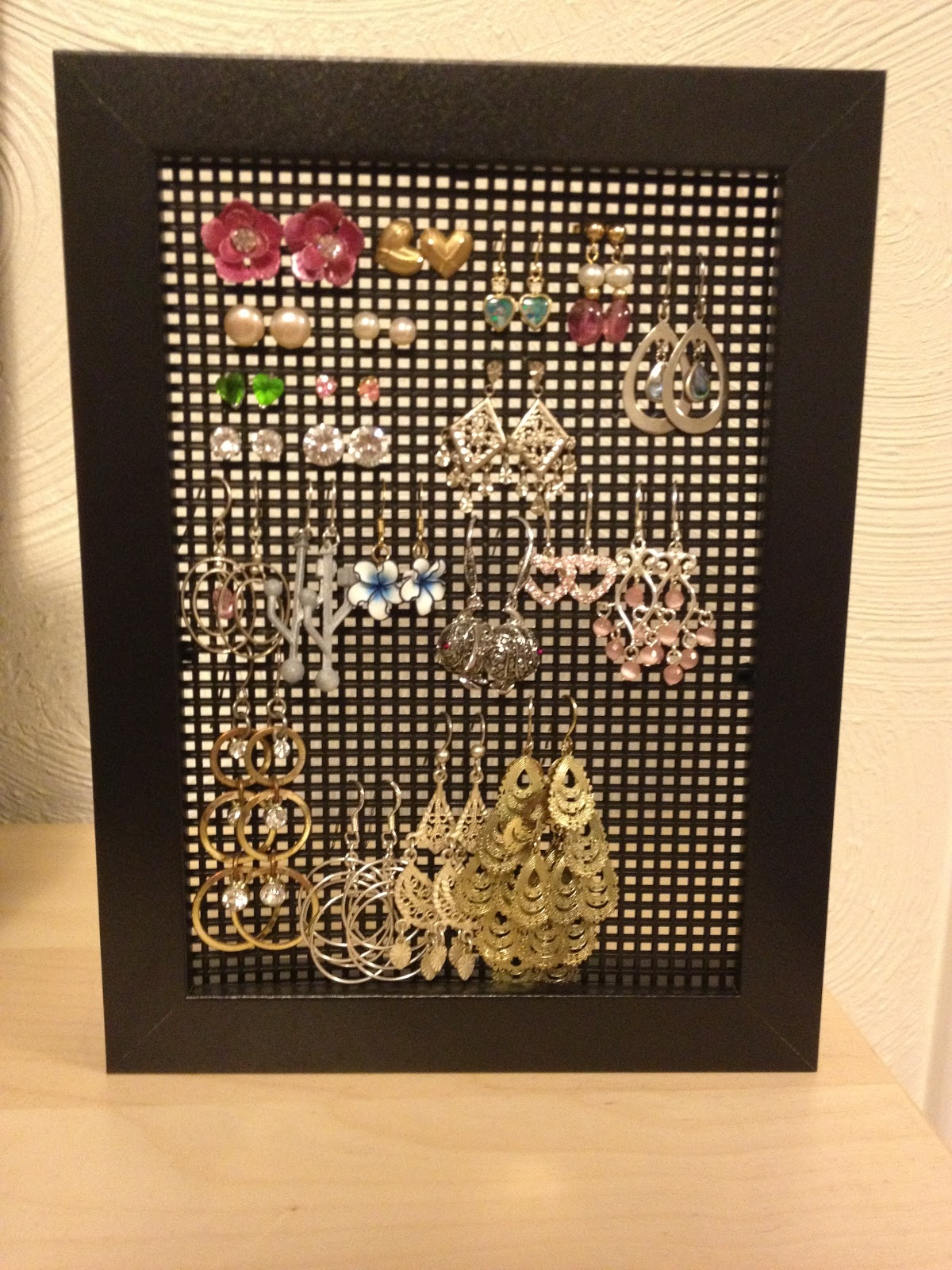 DIY IKEA hack- earring holder