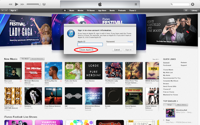 iTunes Radio Apple ID