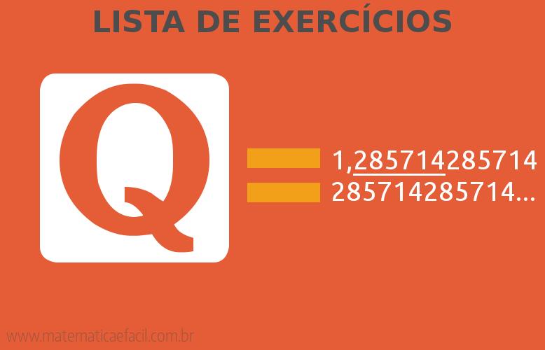 Exercícios com Números Racionais – Frações