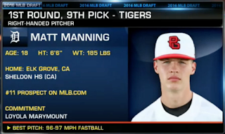 Manning Drafted 1st Round – Ninth Overall – By Tigers