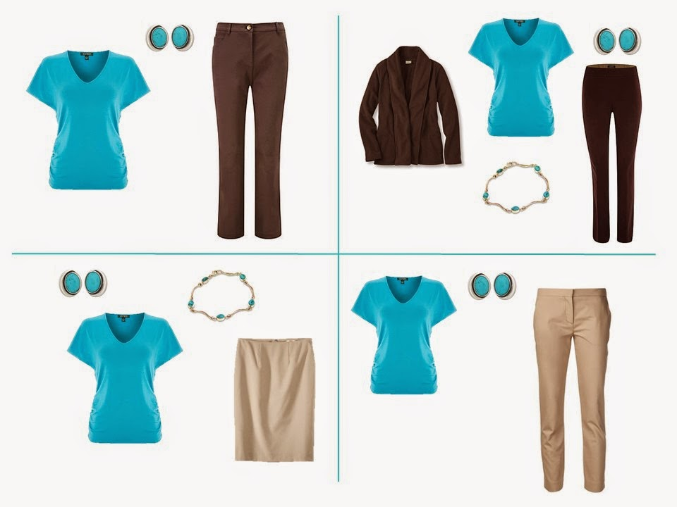 Common Capsule Wardrobe Colors: Turquoise