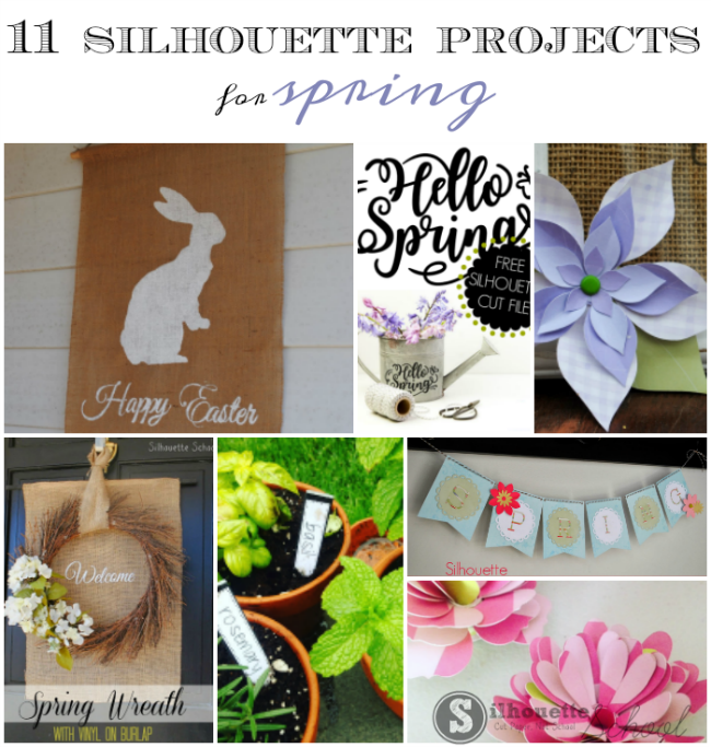 silhouette project ideas silhouette cameo ideas silhouette ideas for spring