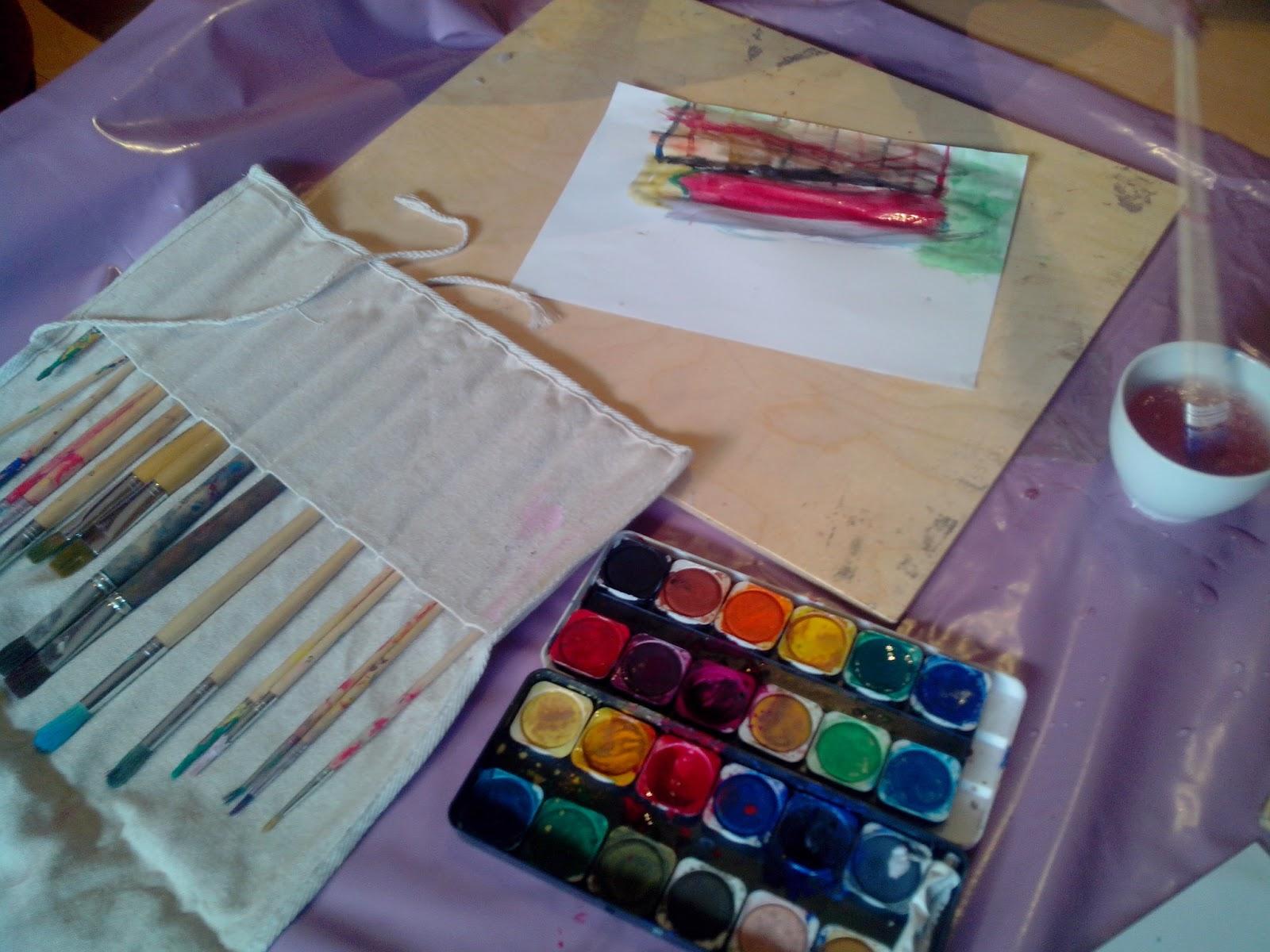 leben und lernen malen mit wasserfarben painting with water colours. Black Bedroom Furniture Sets. Home Design Ideas