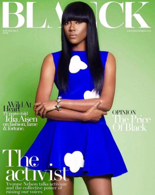 Yvonne Nelson covers Blanck Magazine UK