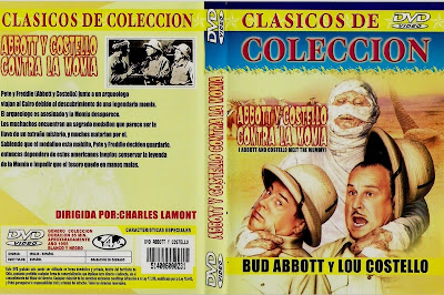 Cover, Dvd. Carátula: Abbott y Costello contra la momia | 1955 | Abbott and Costello Meet the Mummy
