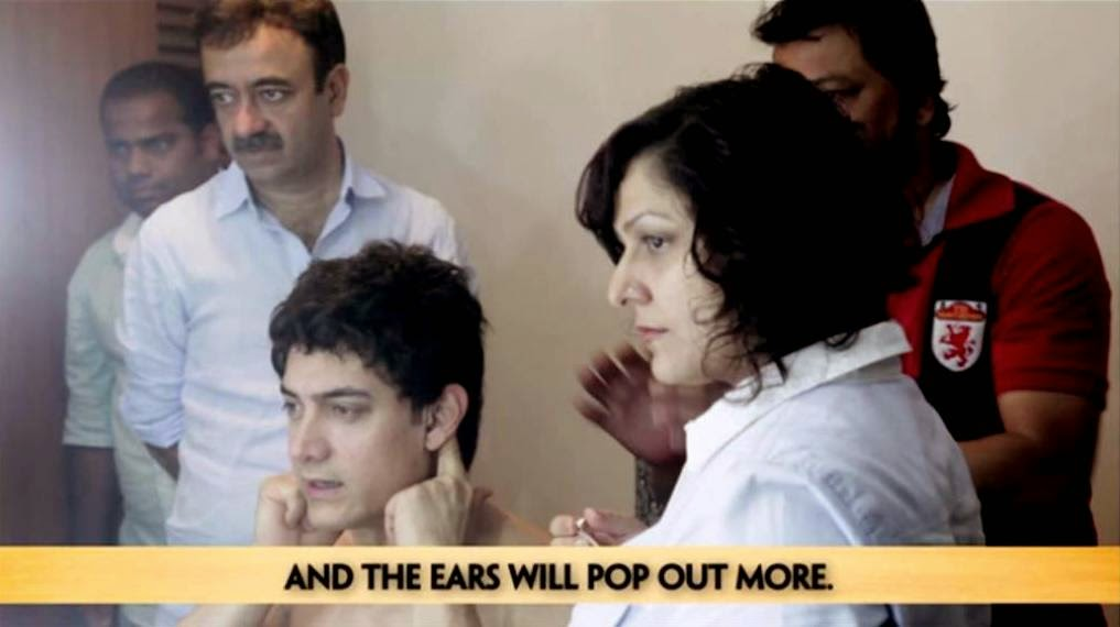 Popping Out Ears of Aamir Khan