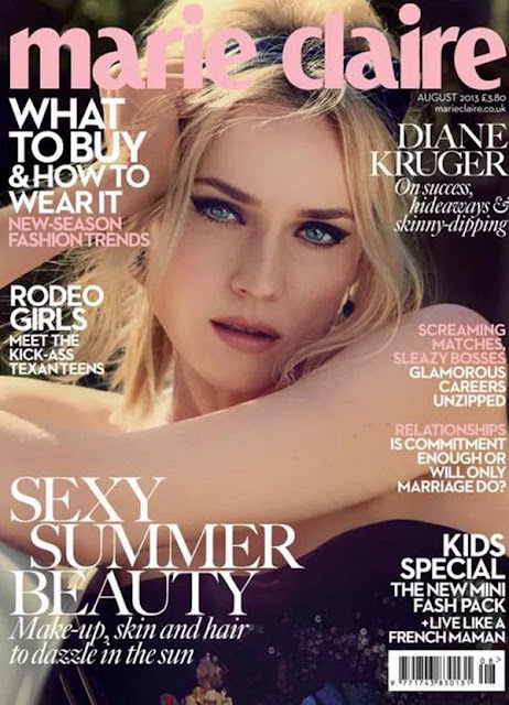 Diane Kruger for Marie Claire UK 2013