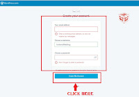 how to create new account on wordpress