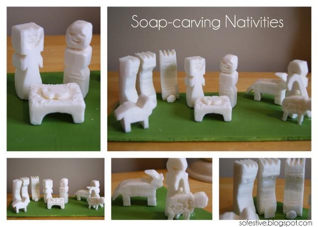Christmas Advent Activity: Soap Carving Nativity - So Festive!