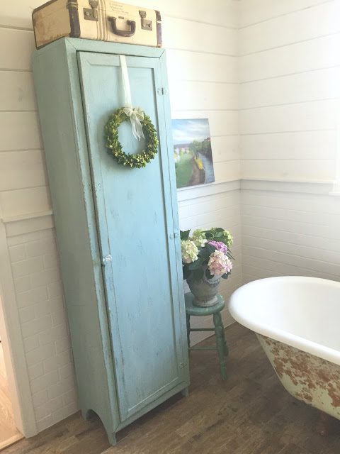 DD's Cottage- Milk Painted Vintage Cabinet-Treasure Hunt Thursday- From My Front Porch To Yours