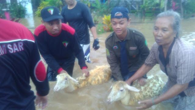 IPM SMP MUHATA Bersama KOKAM Bantu Korban Banjir Lumajang