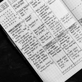 contoh rapid logging pada bullet journal