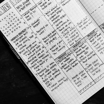 contoh rapid logging pada bullet journal