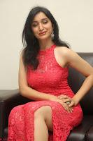 Sakshi Kakkar in Red Legsplit Sleeveless Gown at Dare movie Press meet ~  Exclusive 082.JPG