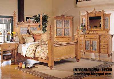 American luxury bedroom furniture, decoration classic bedroom design