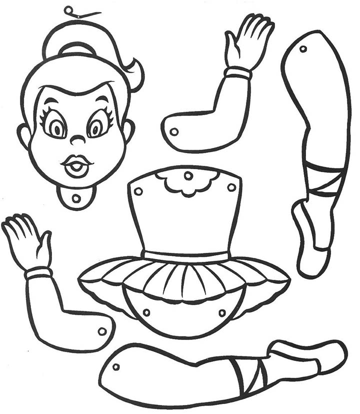 Marioneta bailarina colorear