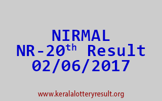 NIRMAL Lottery NR 20 Results 2-6-2017