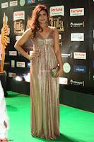 Telugu Actress Aarthi in Deep Neck Backless Golden Gown at IIFA Utsavam Awards 2017 Exclusive 48.JPG