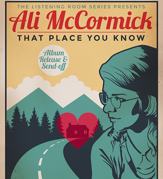 Ali McCormick 'That Place You Know' tour poster (2018)