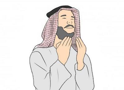 Gambar Berdoa Pria Muslim Kartun Islami