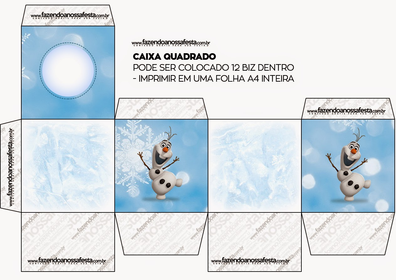 Cajas de Olaf para imprimir gratis.