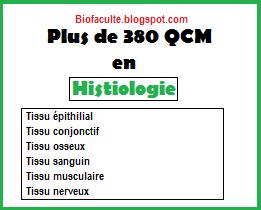 QCM en histologie