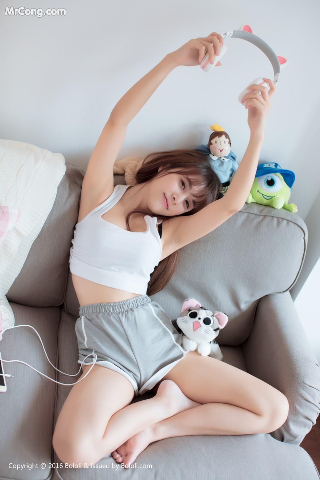 Image Bololi-2018-02-13-Vol.135-Xia-Mei-Jiang-MrCong.com-004 in post Bololi 2018-02-13 Vol.135: Người mẫu Xia Mei Jiang (夏美酱) (26 ảnh)