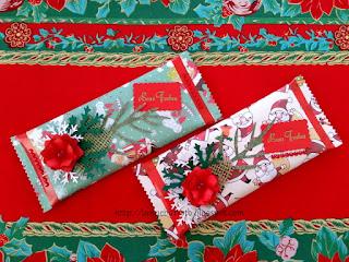 Lembrancinha natalina, KitKat embalado com carinho.