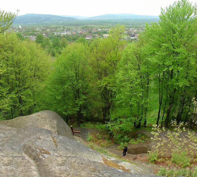 Вид с площадки над монастырём