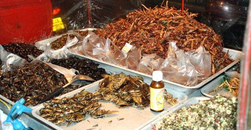 Exotic street food in Bangkok