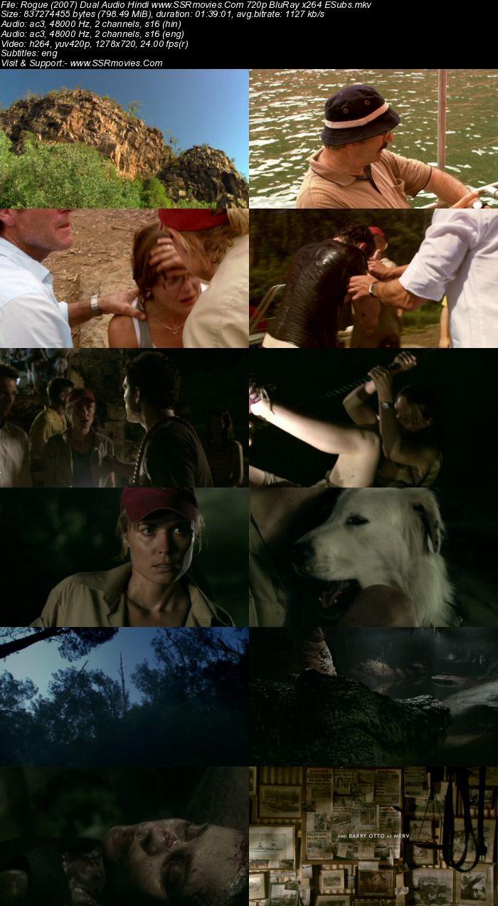Rogue (2007) Dual Audio Hindi 720p BluRay x264 800MB ESubs Movie Download