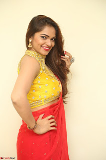 Actress Ashwini in Golden choli Red saree Spicy Pics ~  103.JPG