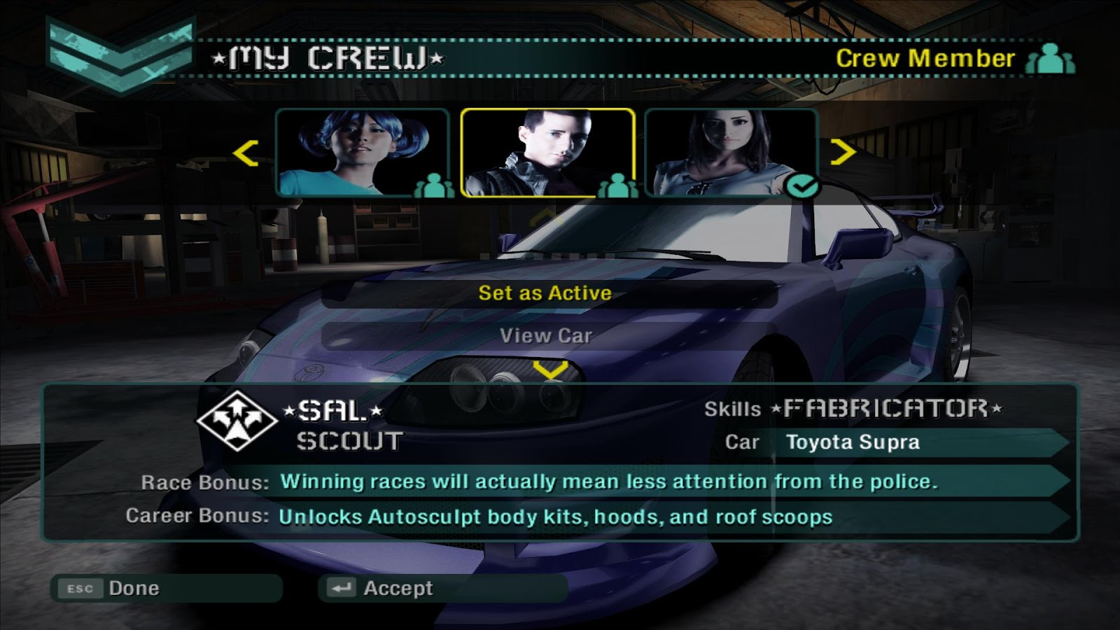 Nfs carbon activate crew members
