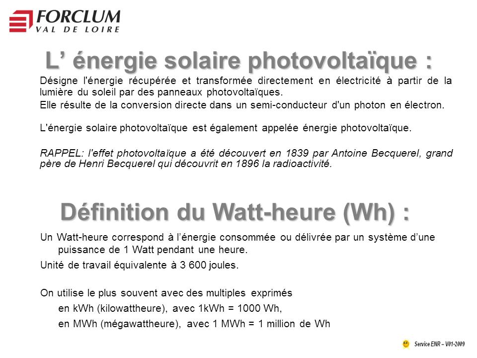 أنظمة الطاقة الشمسية: Telecharger :Le photovoltaïque PDF