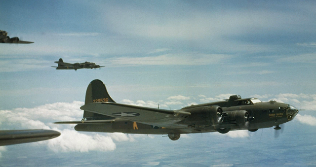 B-17F Flying Fortress color photos of World War II worldwartwo.filminspector.com