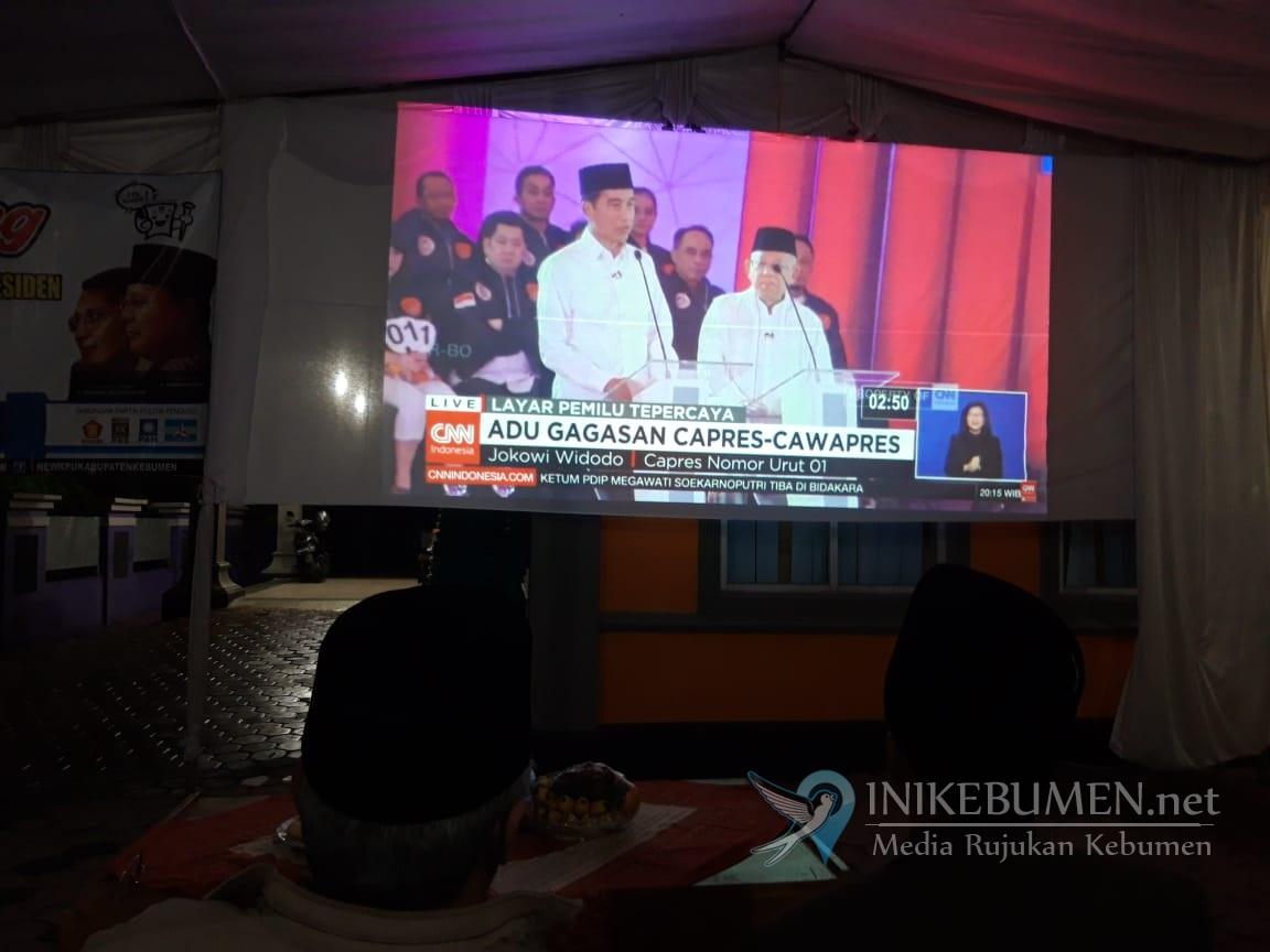 KPU Kebumen Gelar Nobar Debat Perdana Capres dan Cawapres