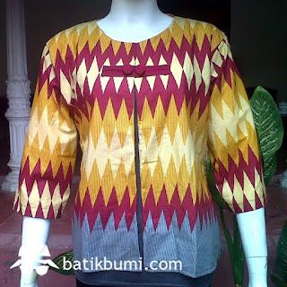 model baju batik atasan orang gemuk