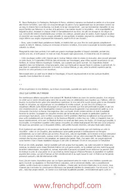Nouveau mémorial Sherlock Holmes de Jacques Baudou et Paul Gayot PDF Gratuit